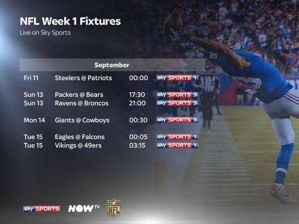 sky sports uk schedule