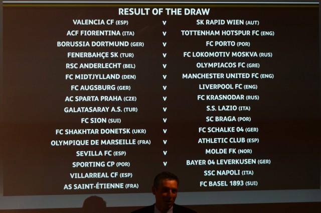 Euiropa League draw