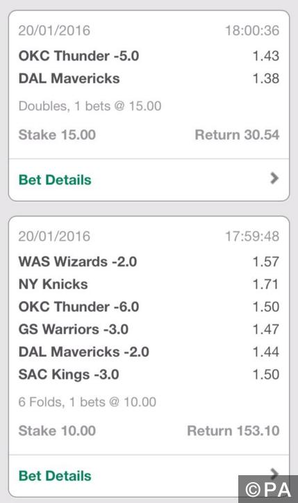 Winning NBA Accumulator + Double