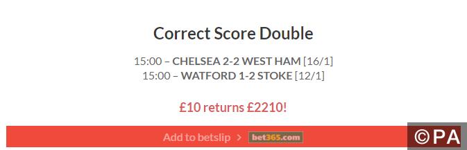 220/1 Correct Score Double Lands