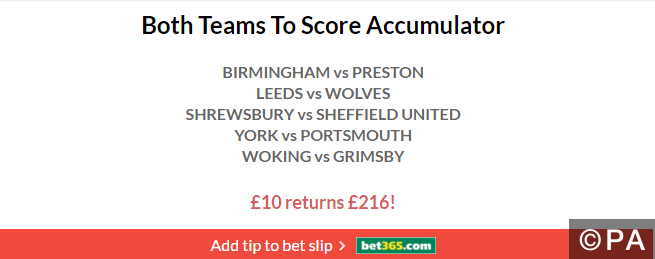 20/1 Both Teams to Score Acca Lands