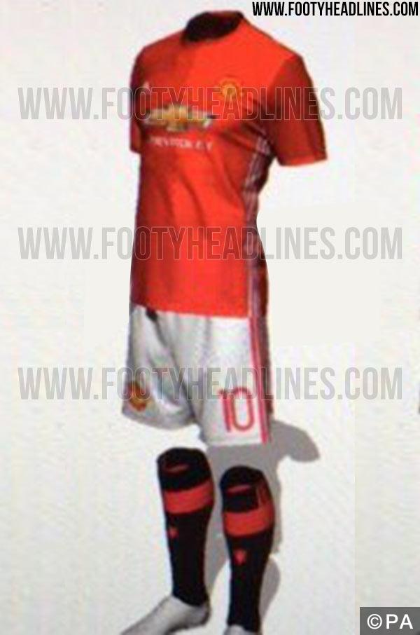 Man United kit 16-17