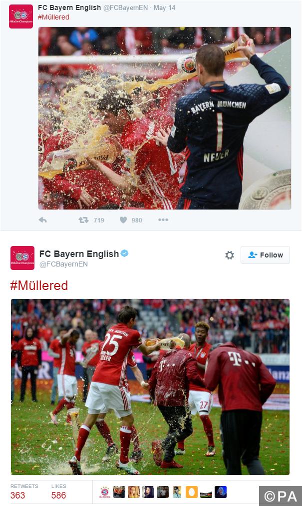 Bayern Munich celebrate Bundesliga title