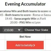 10/1 Evening Acca lands
