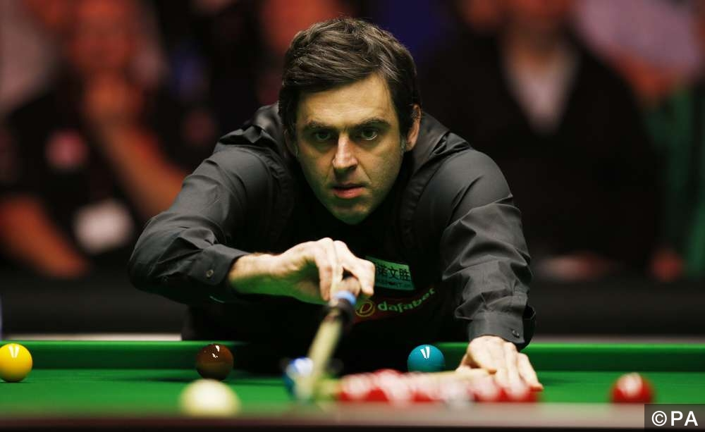 Ronnie O'Sullivan in action during the final