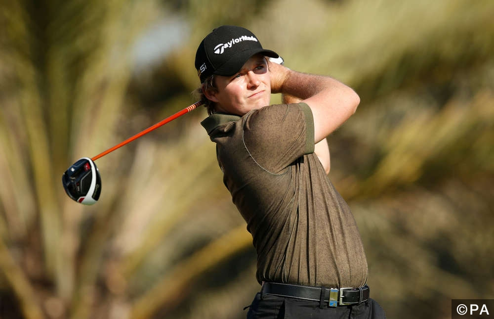 England's Eddie Pepperell in action during the first round