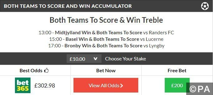 29/1 BTTS & WIN Treble Lands!