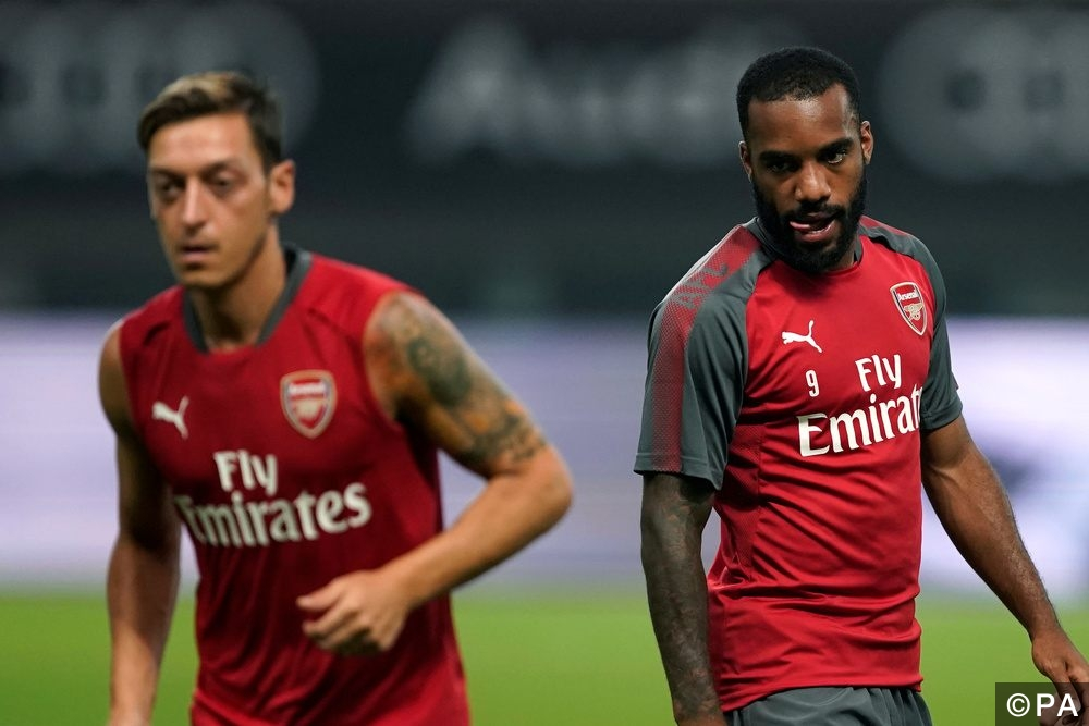 Lacazette training for Arsenal