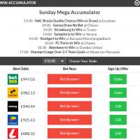 Sunday's Mega Accumulator lands!