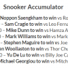 15/1 Snooker Accumulator Lands