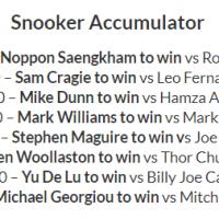 15/1 Snooker Accumulator Lands