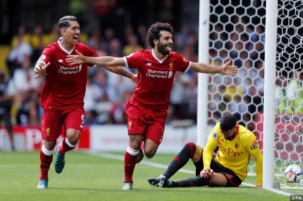 Liverpool - Mo Salah and Firmino