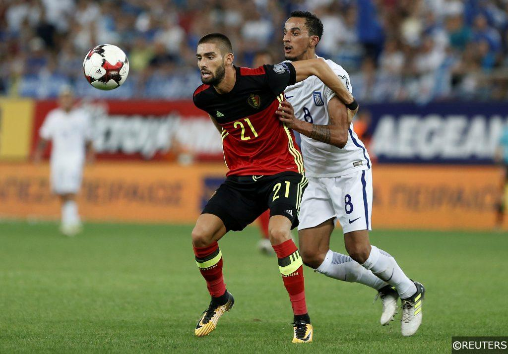 Yannick Carrasco in action for Belgium