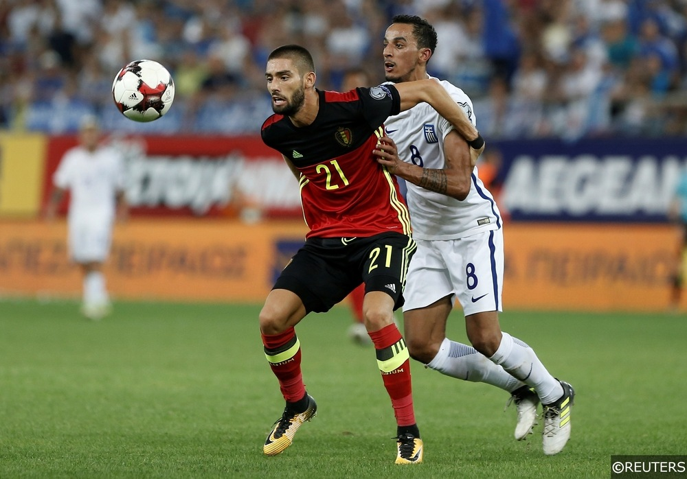 Yannick Carrasco in action for Belgium