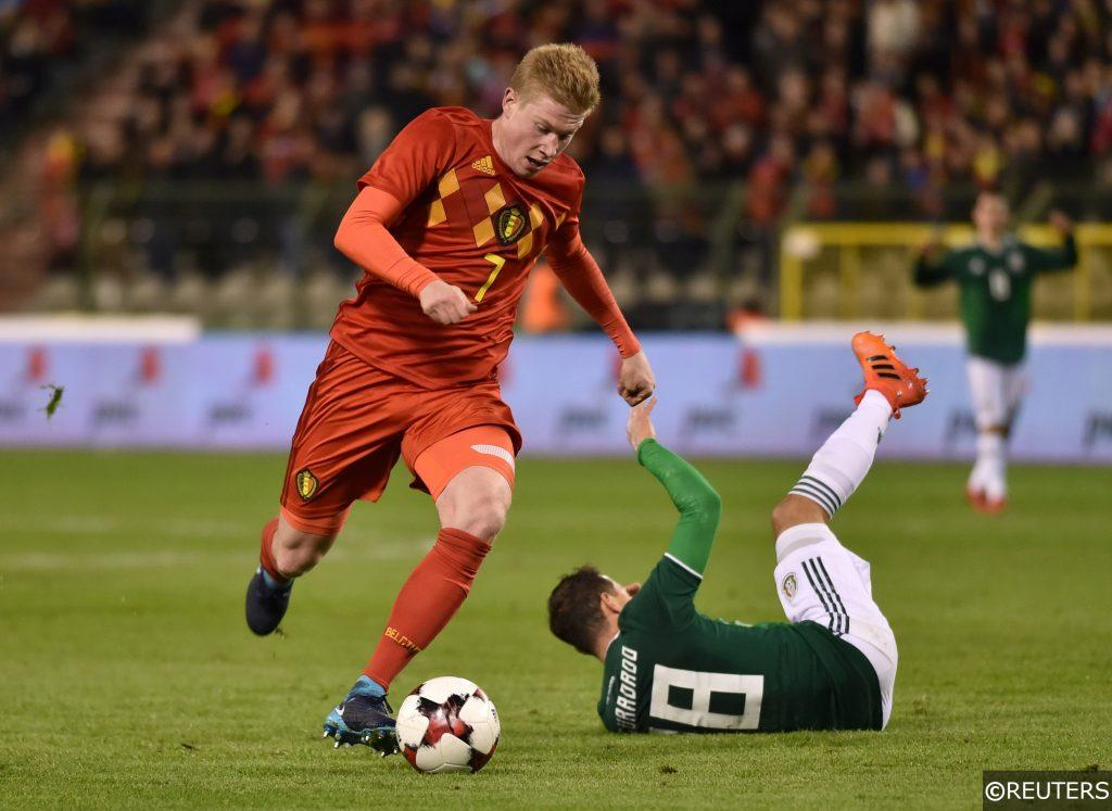 Kevin De Bruyne in action as Belgium Prepare for the 2018 World Cup