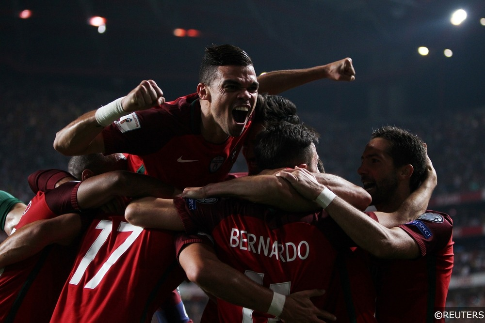 Pepe Celebrates as Portugal Qualify for the 2018 World Cup