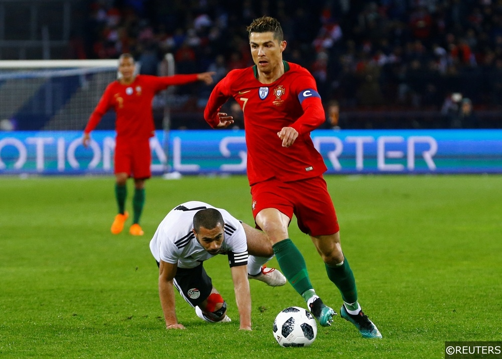 Cristiano Ronaldo in action for Portugal ahead of the 2018 World Cup