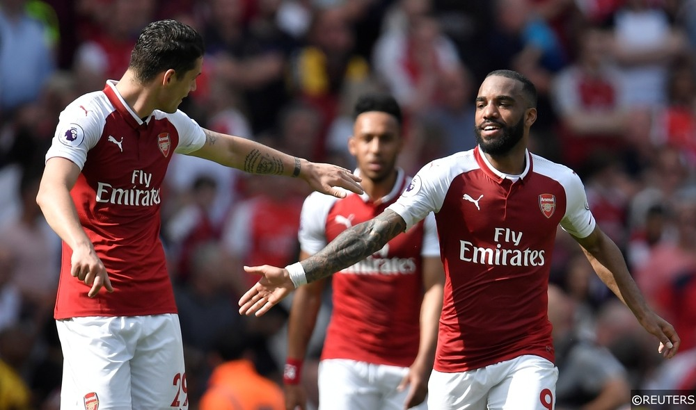 Arsenal Xhaka Lacazette Aubameyang