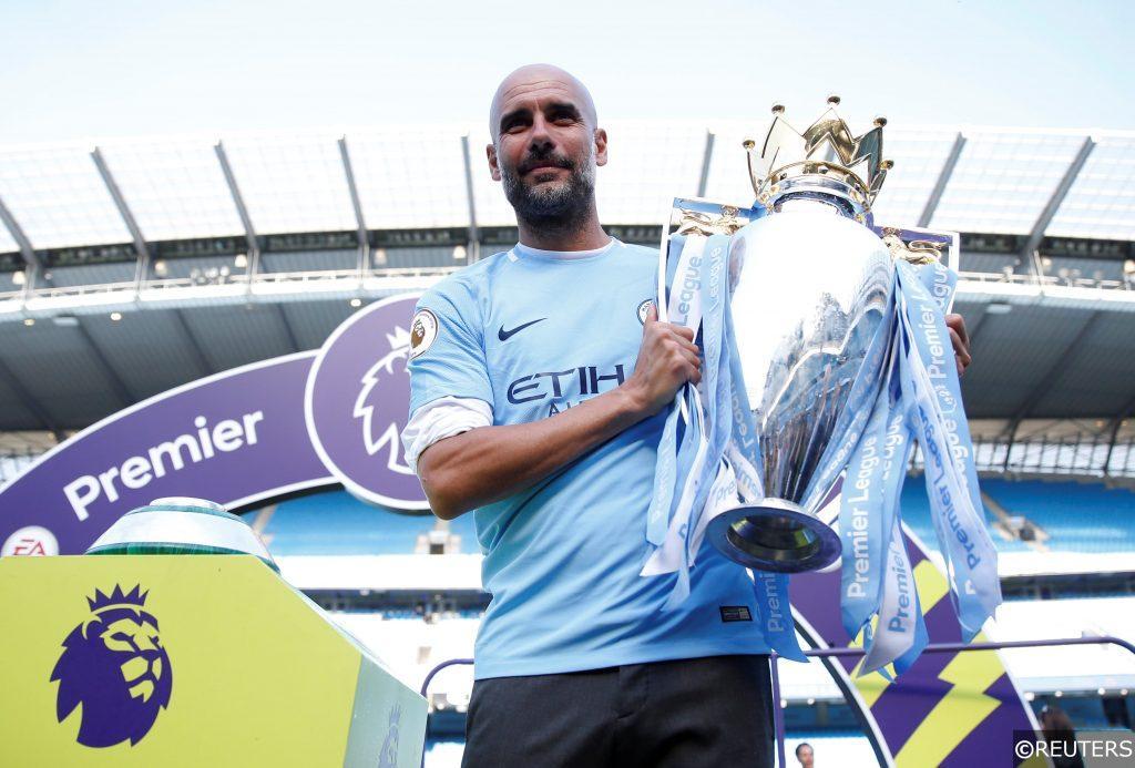 Premier League - Manchester City - Winning trophy