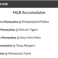 14/1 MLB Acca Winner
