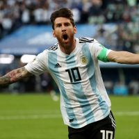 Argentina's Lionel Messi at World Cup 2018