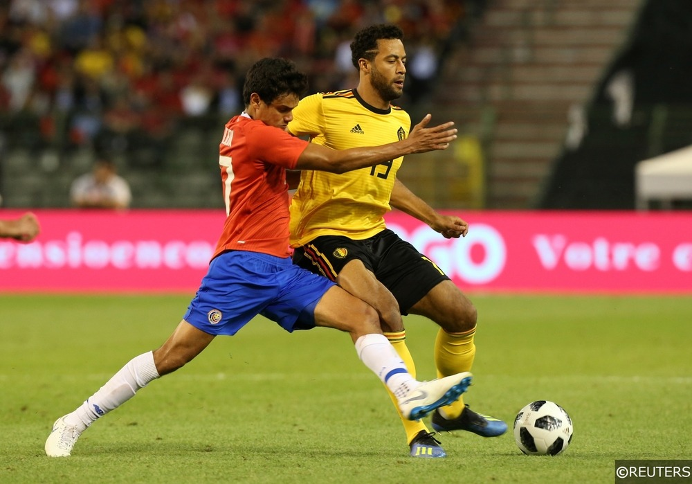 Mousa Dembele in action in a pre-World Cup friendly