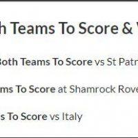 269/1 Both teams to score & Win Treble