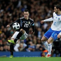 Giovani Lo Celso in action for Argentina against Italy