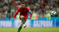 Cristiano Ronaldo scores the equaliser for Portugal in their World Cup draw with Spain