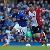 Everton Cenk Tosun and Southampton Yoshida