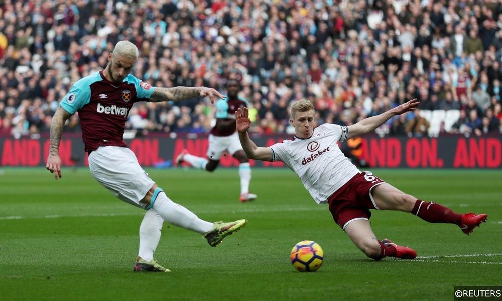 West Ham Arnautovic and Burnley Ben Mee