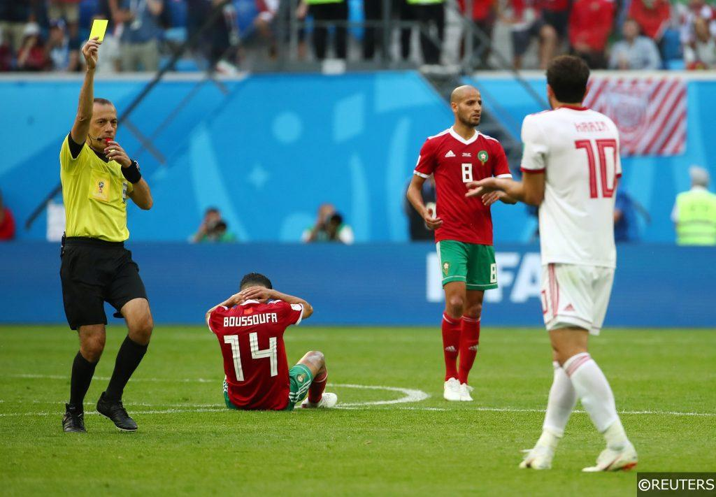Cuneyt Cakir refereeing at the 2018 World Cup
