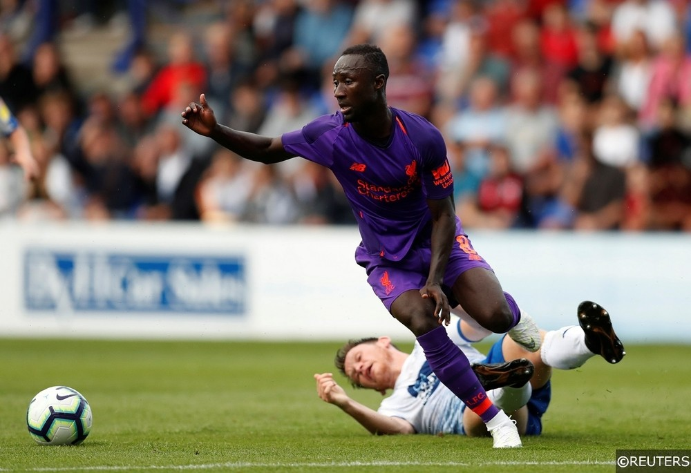 Liverpool Naby Keita in pre-season action against Tranmere.