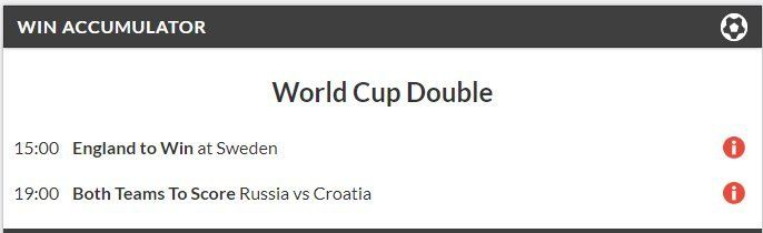 3/1 World Cup Double Lands!