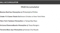 12/1 MLB Acca lands