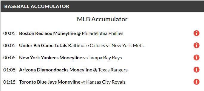 12/1 MLB Acca lands