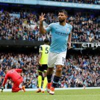 Manchester City - Sergio Aguero Hat-trick celebrations