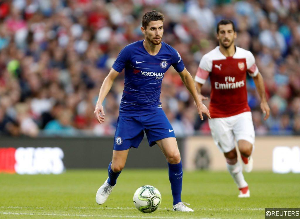 Jorginho in action for Chelsea