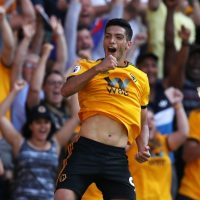 Raul Jimenez in action for Wolves