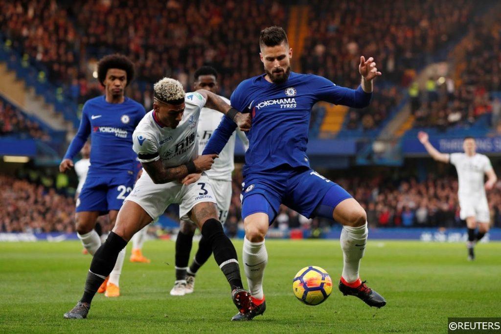 Premier League Crystal Palace Chelsea Giroud van Aanholt