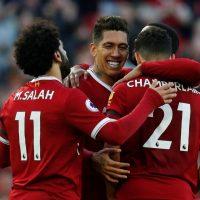 Liverpool Mo Salah Roberto Firmino Alex Oxlaide Chamberlain