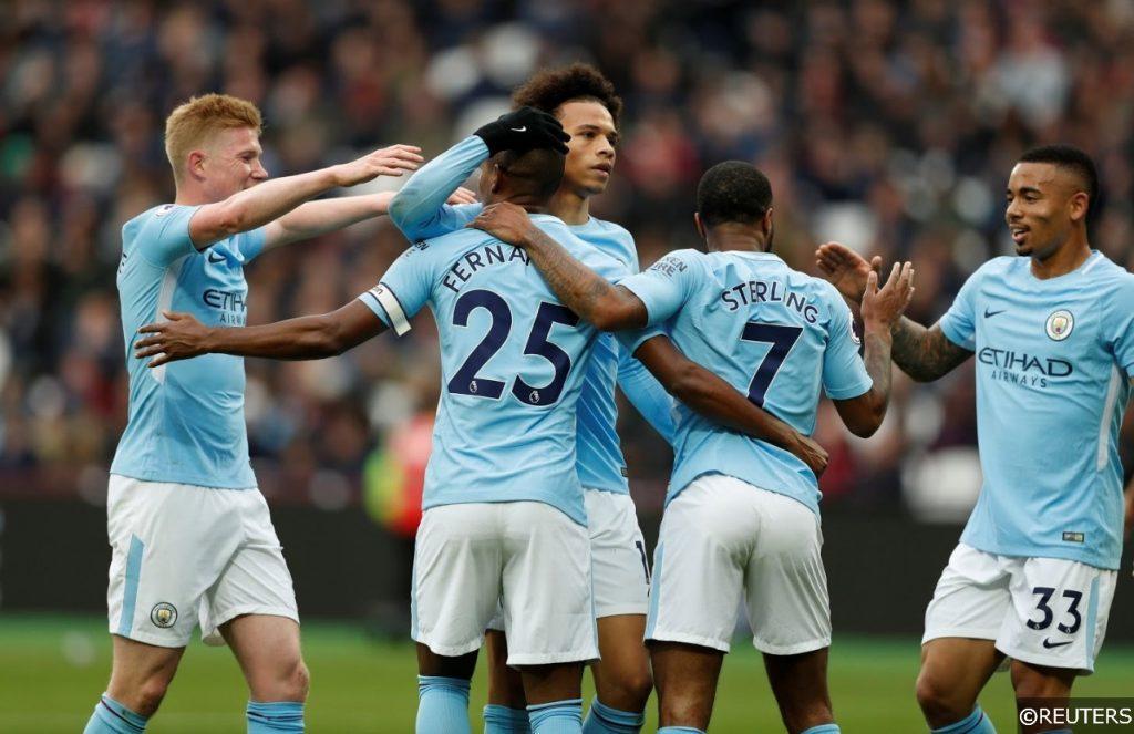 Manchester City De Bruyne Fernandinho Sterling Sane Jesus