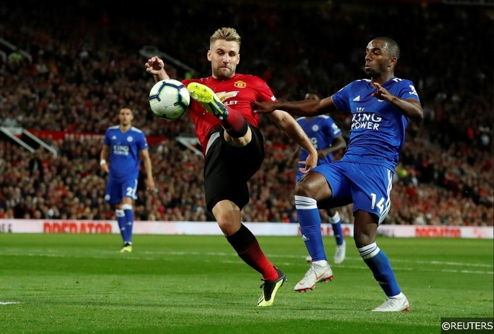 Manchester United Luke Shaw Leicester City Pereira