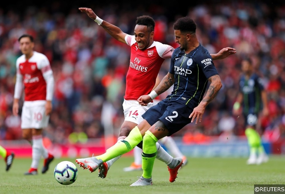 Arsenal Aubameyang Manchester City Kyle Walker