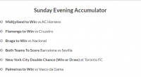 13/1 evening acca lands