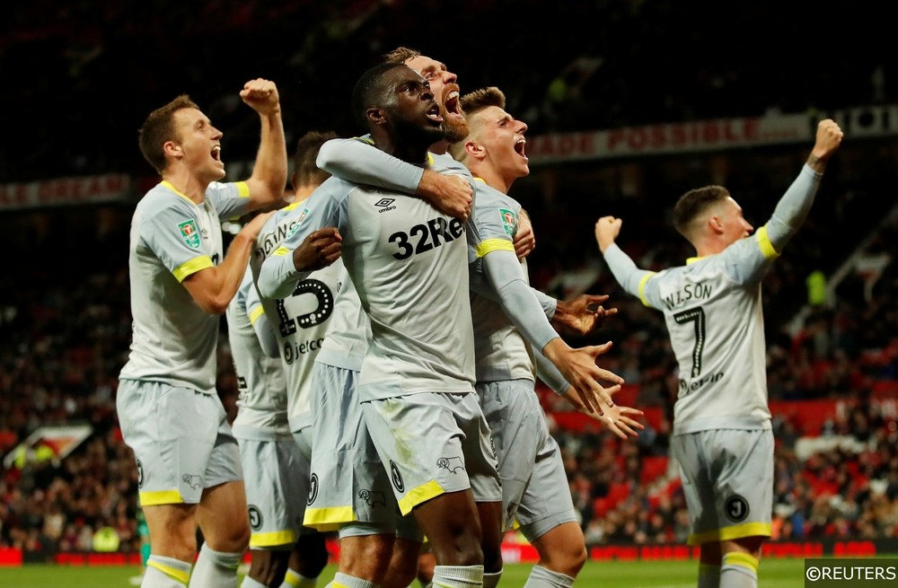 Derby County beat Manchester United in the Carabao Cup