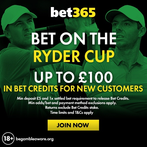 bet365 ryder cup offers