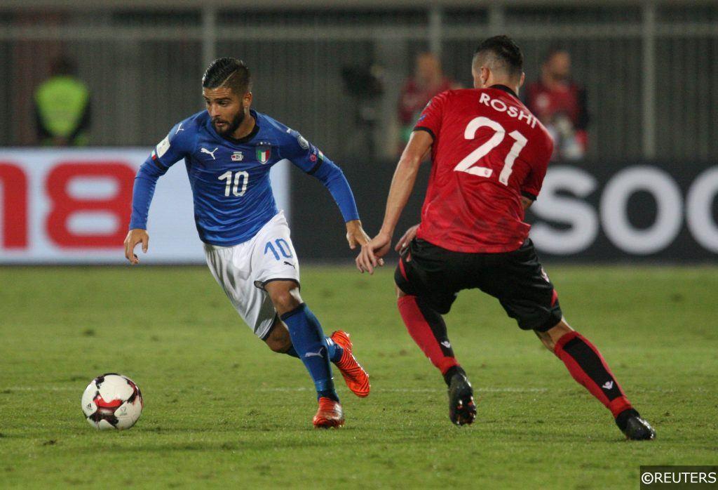 Italy Albania Lorenzo Insigne Roshi