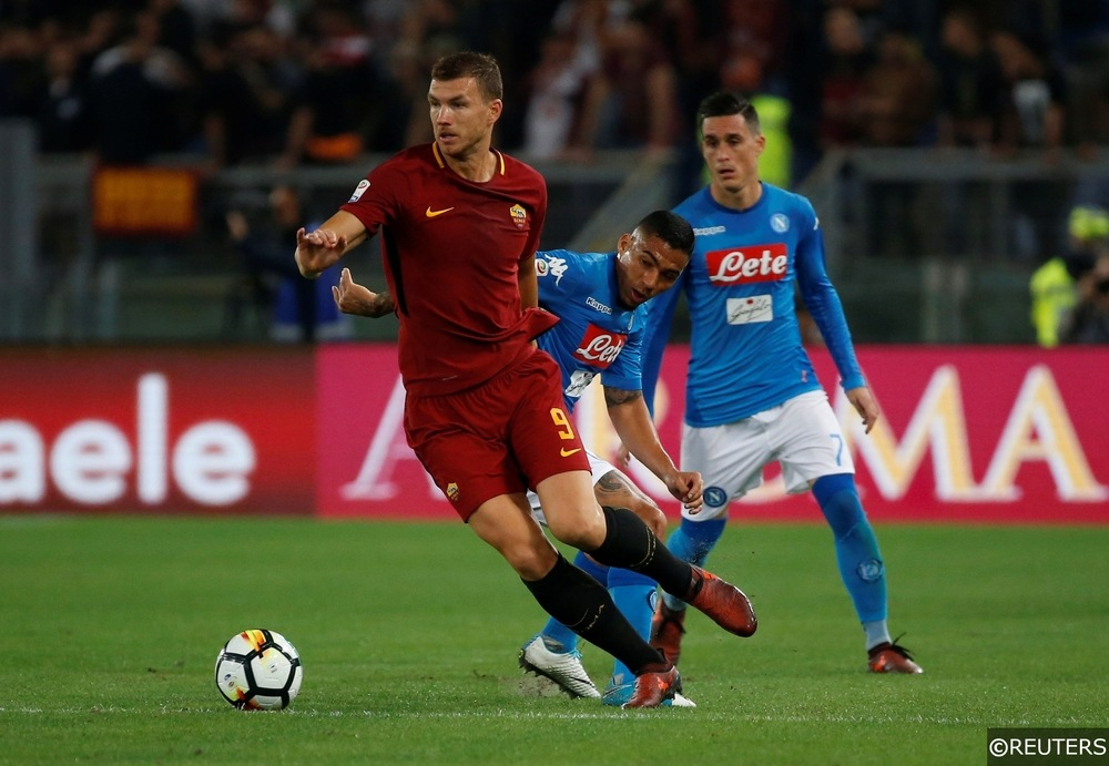 Edin Džeko AS Roma Napoli Serie A