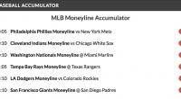 14/1 Baseball Accumulator wins